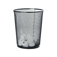Trash Cans And Wastebaskets Stunning Office Wastebasket Metal Mesh Wastebasket Round Trash Can Recycling