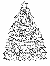 Free Printable Christmas Tree Coloring Pages For Kids Coloring