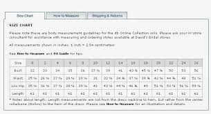 Vera Wang Bridal Size Chart Rent Designer Dresses On Your Special Day Size Chart