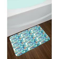 palm leaf rug east urban home tropical blue mint green orange palm leaf bath rug palm leaf outdoor rug