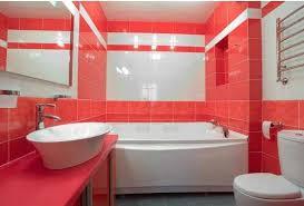 bathroom color combinations of tiles. bathroom tiles design, white red color combinations of n