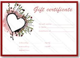 flower gift certificate template - Gift Certificate Templates