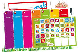 Weekly Activity Planner Daily And Weekly Organizer For Kids