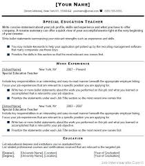 teacher job resumes cv template for teaching job in pakistan special education teacher
