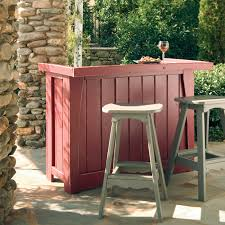 Small Deck With Bewitching Furniture Of Nice Outdoor Bar Diy Set Made Of  Wooden Material
