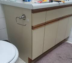 Paint For Laminate Cabinets Bathroom Update How To Paint Laminate Cabinets The Penny Drawer