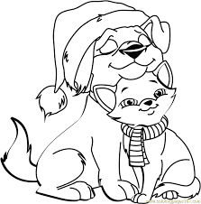 Small Picture Coloring Pages Of Christmas Animals Coloring Pages