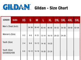 Gildan Size Chart Pants Gildan Youth Shirt Sizing Chart Rldm