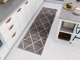 details about non skid slip rubber back diamond lattice grey indoor outdoor area rug