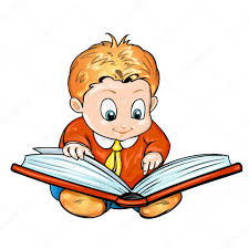 Image result for cartoon child reading