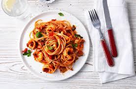 Seafood Spaghetti With Marinara Sauce ...