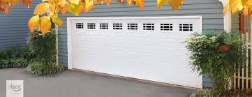 garage door insertsAmarr Stratford Series Garage Door with Prairie Decratrim