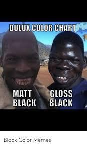 Dulux Color Chart Gloss Matt Black Black Black Color Memes