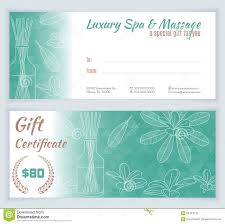 stock ilration spa mage template word mage gift certificate template