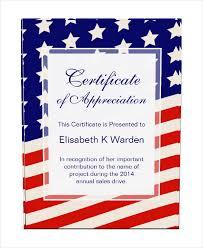american template certificate of achievement template american flag certificate of