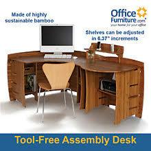 office corner desk. Bamboo Corner Desk With Peninsula, OFG-CD0033 Office E