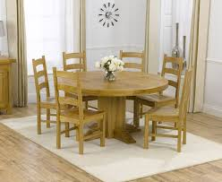 zenia oak 150cm round dining table 6 lavena oak timber white round dining table with 6