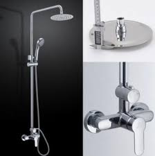 dual shower head bar. kes x6008b bathroom brass shower faucet with slide bar hand and sus304 stainless steel rainfall dual head j