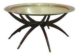 furniture brass coffee table luxury mid century brass top moroccan style coffee table chairish