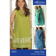Tunic Sewing Pattern Custom Urban Tunic Sewing Pattern From Indygo Junction IndygoJunction