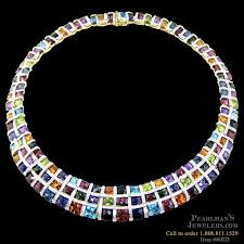 bellarri necklaces bellarri multi color gemstone