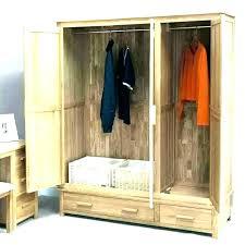 unfinished wardrobe enchanting wood wardrobe closet unfinished home depot wooden furniture