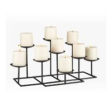 boston loft furnishings 9 candle elear matte black metal candelabra candle holder