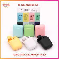 TAI NGHE Không Dây I12 Inpod Như Airpod Dùng Cho Iphone / Android - Pin Lâu  - Âm Thanh Stereo tại Hải Dương