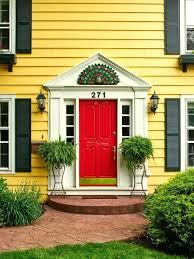 creative home design astonishing stunning mesmerizing yellow house red door black shutters intended for white enjoyable