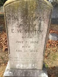 Ida Thomas Burton (1854-1899) - Find A Grave Memorial