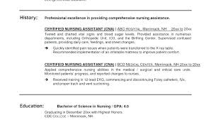 Resume Examples Cna Resume Examples With Experience Professional