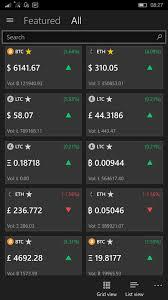 Mini Review Crypto Chart Uwp