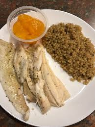 Sous vide lemon pepper flounder filets with Israeli porcini ...