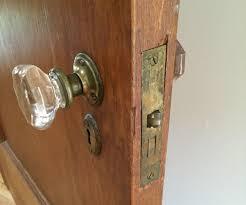 nothing happens when you turn the door live in an older home with vine gl or br doors a broken door spring in your antique mortise lock