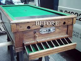 pool bar furniture. oak snookerette bar billiard table before restoration pool furniture r