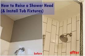 diy raise install shower fixtures tutorial view in gallery bathtub shower head installation
