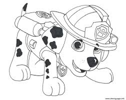 Coloring Pages Paw Patrol Marshall Drawing Freeng Pages For Kids