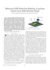 Basic Esd And Io Design Pdf Pdf Behavioral Esd Protection Modeling To Perform System