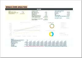 Break Even Point Excel Break Even Analysis Template For Excel With Chart Simple Data Driven