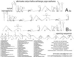 Ashtanga Primary Series Vinyasa Flow Chart Ahimsaka Satya