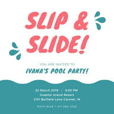 Dive into summer party pointers at ideas.evite.com.get clever tips from our complete pool party guide, or get creative ideas about kids' pool party favors, luau parties, outdoor diys, party punches, snacks, and more. Free Printable Customizable Pool Party Invitation Templates Canva