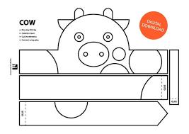 Crown Template Unique Cow Paper Crown Printable Coloring Crown Coloring Face Etsy
