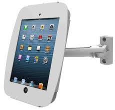 flip cover ipad enclosure kiosk with swing arm wall mount for ipad 2 3 4 air