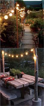 Garden outdoor lighting Tree Via Marthastewart 35 Amazing Diy Outdoor Lighting Ideas For The Garden Outdoor String Lights Home Stratosphere 35 Amazing Diy Outdoor Lighting Ideas For The Garden