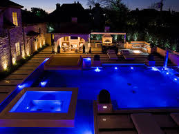 swimming pool lighting ideas. Modern Swimming Pool With Light Spots For Chic Look Get A Comfy Lighting Design. « Ideas