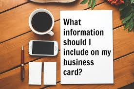 What Info To Put On Business Card What To Put On A Real Estate