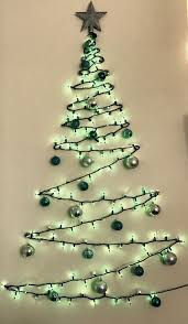 Christmas Tree Design On Wall With Lights Pin By Tonia Ziegler Fonseca On Christmas Winter Ideas