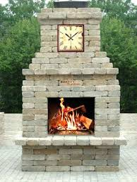inspiring outdoor fireplace kits southern tradition diy stone