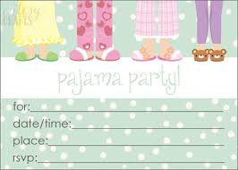 Milk And Cereal Pajama Party Printable Slumber Party