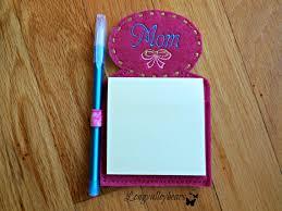 refrigerator notepad. mom refrigerator magnet sticky notepad w/pen by longvalleybears t